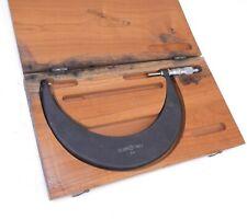 Scherr Tumico Outside Micrometer 7 8 00001 Grad With Wooden Case