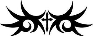 Tribal Cross Inspirational Jesus Religious Vinyl Decal Sticker