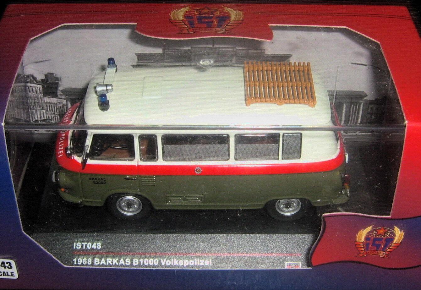 1 1 1 43 1968 Barkas B1000 Volkspolizei (Police bus) IXO IST 048 70ee75