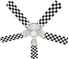 Race car ceiling fan checkered flag boys bedroom decor kids childs new nascar checkered flag race racing ceiling fan 52 mozeypictures Image collections
