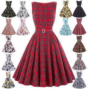 damen vintage 50er 60er jahre kleider petticoat pin up. Black Bedroom Furniture Sets. Home Design Ideas