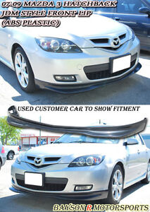 Jdm style front lip abs fits 07 09 mazda 3 5dr hatch ebay image is loading jdm style front lip abs fits 07 09 publicscrutiny Image collections