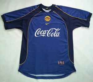 VINTAGE RARE NIKE DRI-FIT CLUB AMERICA AUTHENTIC SOCCER JERSEY IN ... 3dc8b2f13