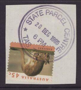 Tasmania-STATE-PARCEL-CENTRE-Launceston-1995-postmark-on-piece