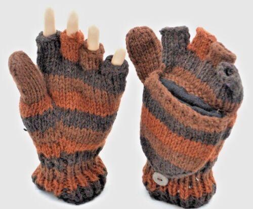 100/% Woollen Mitten Handmade in Nepal Ski Gloves Pouch Handwarmer Fingerless