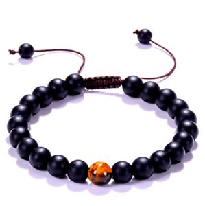 Analytique Bracelet Noir Protection,homme,femme,pierre Onyx,oeil Tigre,Ésotérique Puissant Riche En Splendeur PoéTique Et Picturale