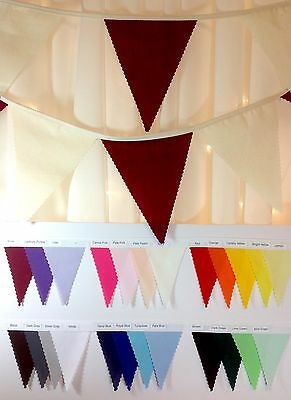 Traditional Wedding Bunting Hessian Calico Lace Choose your own length from 1m