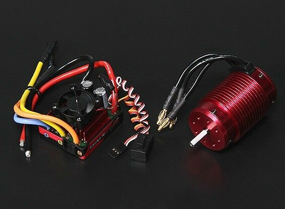 TRACKSTAR 1 8 Impermeable Motor CES Combo 120A 1900Kv 3-4S TRAXXAS SUMMIT LOSI Radio Control