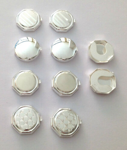 MADE IN ITALY 925 STERLING SILVER  BUTTON COVERS FOR SHIRTS