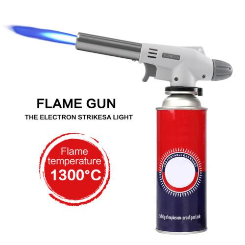 2 Pack Camping Gas Torch Welding Fire Maker Lighter Butane Burner Flame Gun BBQ