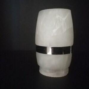 Lampenglas-Ersatzglas-Glasschirm-Ersatzschirm-Lampen-Zylinder-Alabaster-Weiss