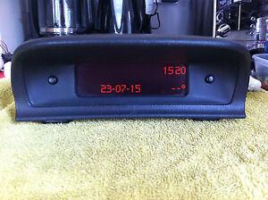 PEUGEOT 307 hdi - DIGITAL DISPLAY SCREEN LCD CLOCK / RADIO Part No