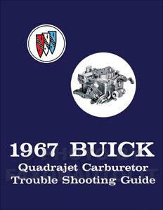Details about 1967 Buick Quadrajet Carburetor Troubleshooting Guide  Rochester 4MV Shop Manual