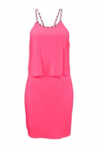 Kleid Sommer Kleid Bench Pink Mini Lagenlook Gr M L XL