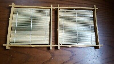 Set of 6 Bamboo Sushi Rolling Mats 9-1//2 Inches Square S-3987
