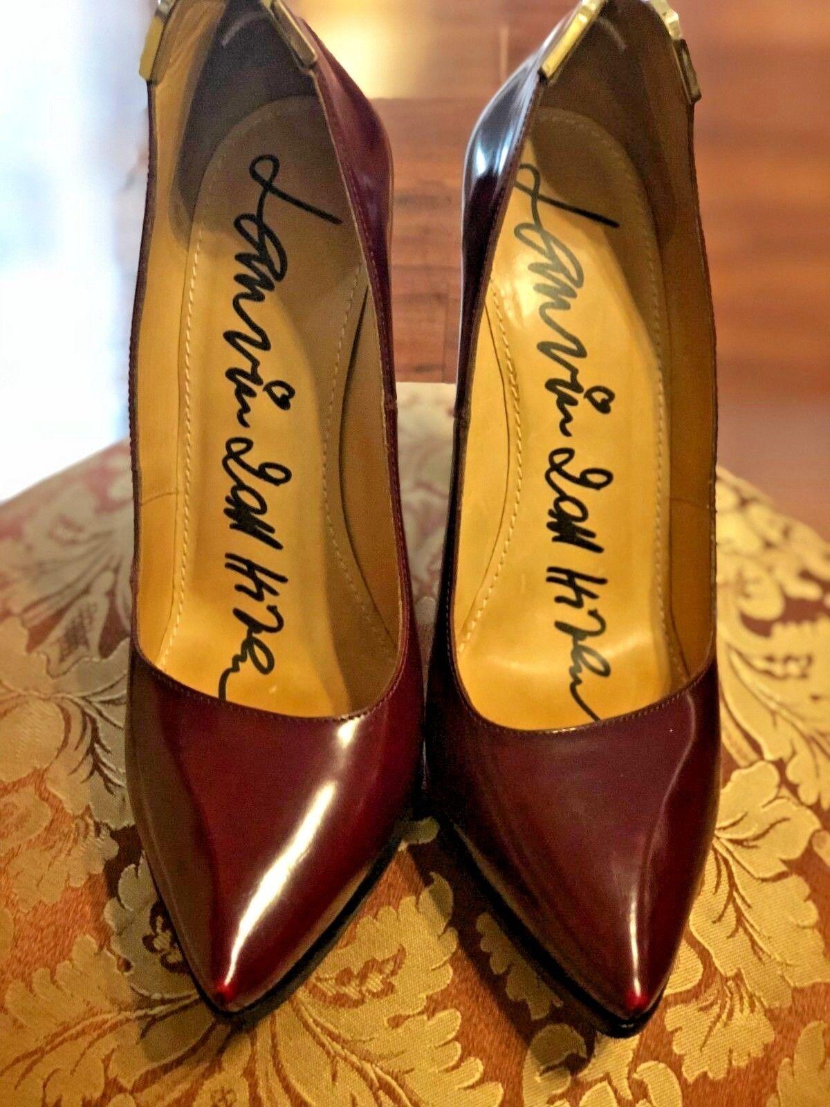 la migliore selezione di Lanvin Burgundy Leather Pointy Pointy Pointy Toe Stiletto Pumps - 39.5  all'ingrosso a buon mercato