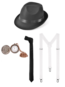 Gangster patraque oeillères années 20 Tommy Shelby Déguisements Stag Night Costume Kit-S