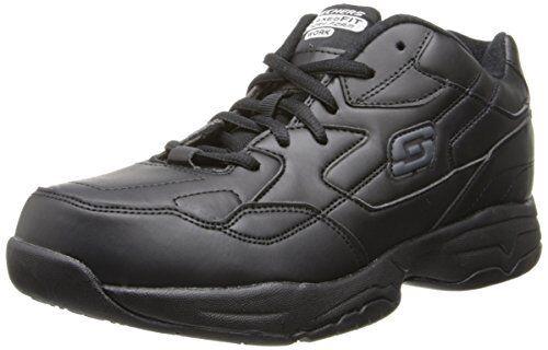 Skechers Womens Work Albie Walking Shoe, Black, 9 XW US