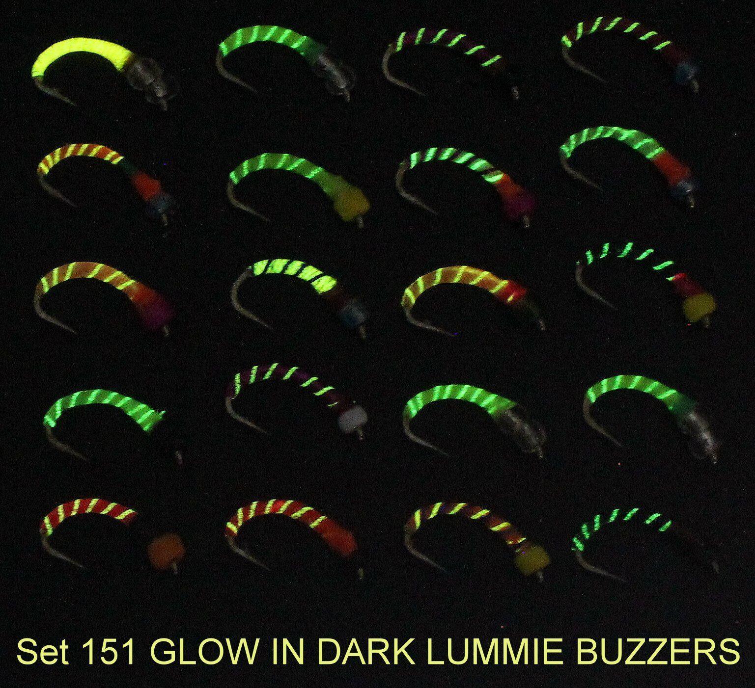 TRUITES MOUCHES Glow époxy Buzzers Truite Pêche Mouches à La Mouche Mouches Pêche Set 151-10 pour Rod Reel 1b5a7c