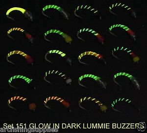 Glow epoxy buzzers trout fly fishing flies s151 14 for use for Glow in the dark fishing pole