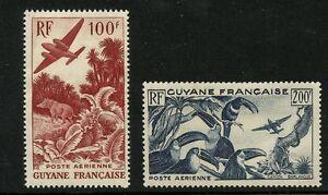 France Cols. GUINEA 1947 Airs 100f + 200f UMNH **