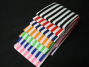 Stripes-polycotton-fabric-Poplin-Metre-Red-Black-Orange-Lime-Blue-Navy-Black