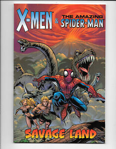 X-Men-And-The-Amazing-Spider-Man-Savage-Land-1-2002-NM-4-Print-Marvel-Comics