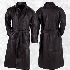 Italian Stone Design Black Men's Leather Trench Coat Jacket W/belt ...