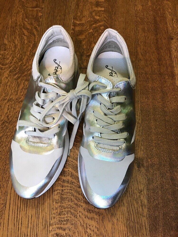 NEW Free Metallic People Kick It plata Metallic Free zapatillas Trainers zapatos  128 Sz 39 9 9.5 238b55