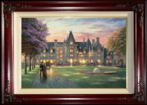 Thomas-Kinkade-Elegant-Evening-At-The-Biltmore-18x27-A-P-Canvas-Brandy-Frame