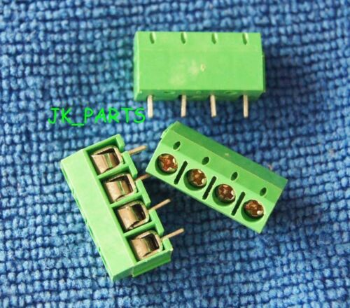 10pcs 5mm Pitch 4 pin 4 way Straight Pin PCB Screw Terminal Blocks Connector
