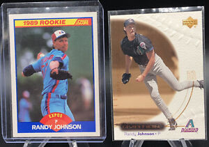 1989 Score Randy Johnson Rookie Card RC #645 + 4 more cards LOOK