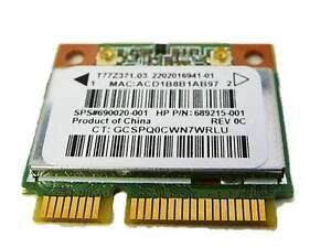 RT3290 Wireless N BT Bluetooth Half Mini wifi Card For HP Laptop 690020-001