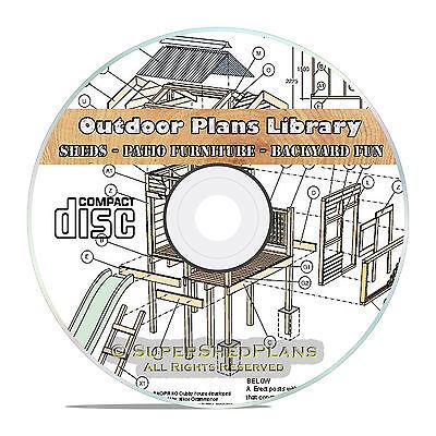 Cool Outdoor Private Cabin Building Plans, Farming Plans Backyard Patio  Plans CD 741533275526 | eBay