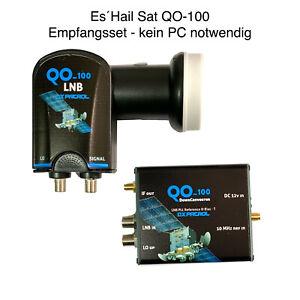 QO-100 Empfangsset - kein PC notwendig - ES' Hail Sat Down-Converter & LNB