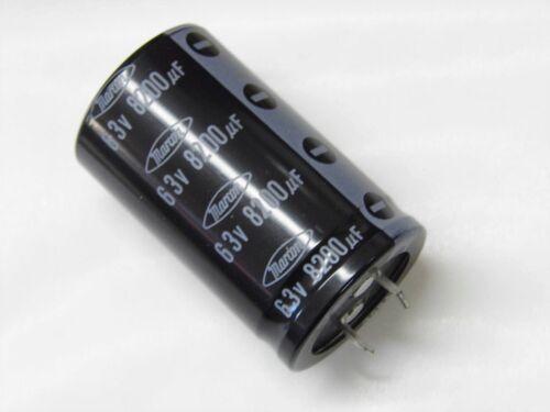 1 Kondensator 8200ΜF 8200uF 8200MF 63V einrasten in Marcon 30x50mm