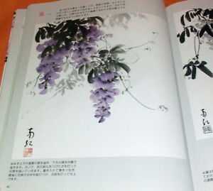 Flowers-Drawn-by-Japanese-Ink-Wash-Painting-India-Ink-book-from-japan-0777