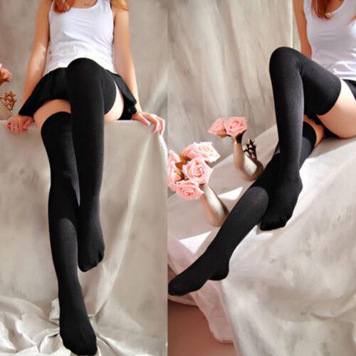Lady Long Boot Socks Over Knee Thigh High School Girl Stocking Hosiery Nightclub