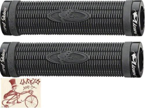 LIZARD SKINS CHARGER LOCK-ON BLACK BMX--MTB BICYCLE GRIPS