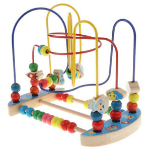 Kids Baby Wooden Space Round Beads Maze Educational Toys ...