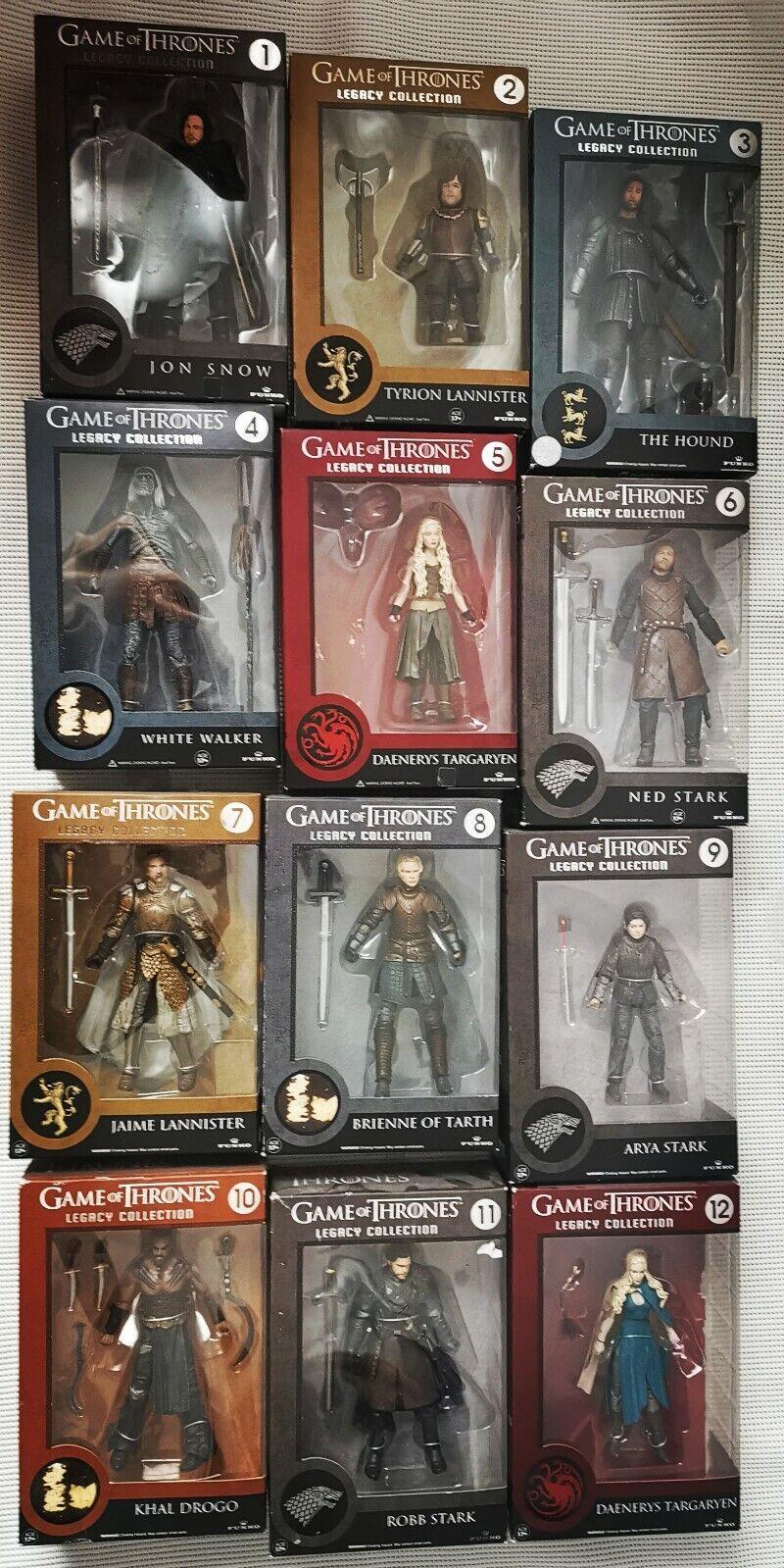 Spel van Tronen Funko Figuur Legacy Collection 12X Jon Snow, Daenerys, khal Drogo