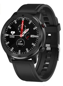 Popglory Smart Watch, ip68 Wasserdicht Fitness Tracker/Pulsuhr, schwarz