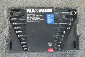 Maximum 10-Pieces SAE GearWrench Extra-Long Ratcheting Box End Wrench Set