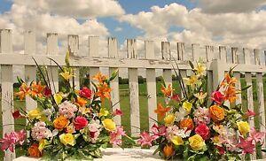 Summer Flower Arrangements Church Silk Wedding Altar Vases Receptions Cemetery Ebay