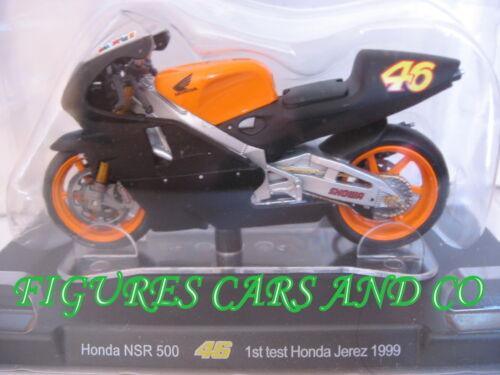 MOTO GP 1//18 HONDA NSR 500 # 46 COLLECTION  ROSSI PREMIER TEST HONDA JEREZ 1999