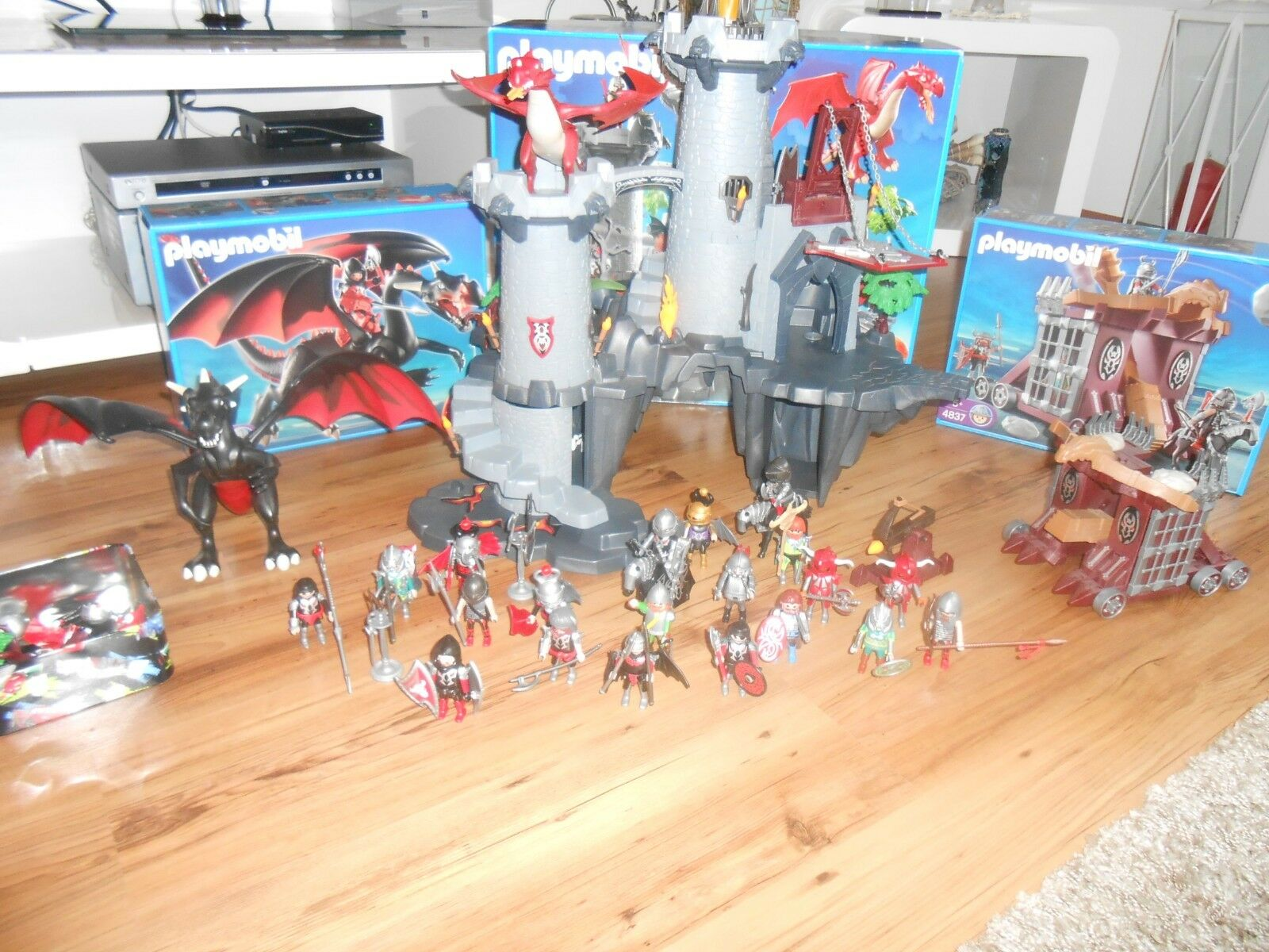 Playmobil Drachenritterburg 4835 Drachen 4838 ,4837
