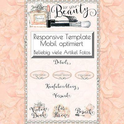 tEST | Kosmetik Parfüm | Mobile eBay Vorlage Responsive Template |534