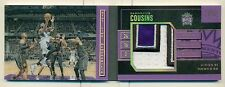 DeMarcus Cousins 2015-16 Preferred Stat Line Jumbo Prime Patch Booklet /25