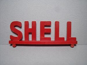 ENSEIGNE  SHELL  1970  POUR  GARAGE  STATION   SERVICE  1//43  VROOM  ACCESSORIES