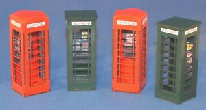 1-32-Scale-Telephone-Boxes-x-4-Kit-for-Scalextric-Other-Static-Layouts